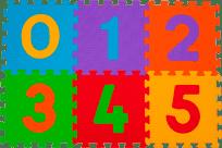 BABYONO Pěnové puzzle číslice 6 ks, 6 m+