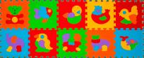 BABYONO Puzzle penové zvieratká 10 ks
