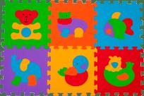 BABYONO Puzzle penové zvieratká, 6 ks