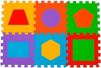BABYONO Puzzle pěnové písmena 6 ks