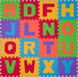 BABYONO Puzzle pěnové písmena 16 ks, 6 m+