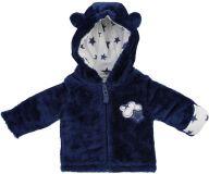 JACKY Zimní bundička s kapucou chlup CLOUD & STAR, vel. 62- modrá, Unisex