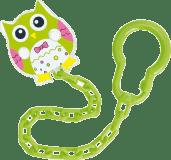CANPOL BABIES Řetízek na šidítko sova – zelená