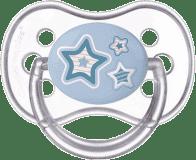 CANPOL BABIES Cumlík silikónové čerešnička 18 m + NEWBORN BABY - modré