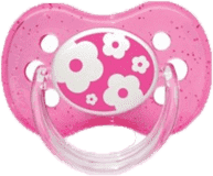 CANPOL BABIES A - Dudlík kauč. třešinka 0-6m NATURE – růžová