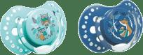 LOVI Dudlík silikonový dynamický FOLKY 6-18m 2ks – modrá