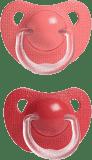 SUAVINEX Dudlík Evolution anatomická savička silikon +6m – holka, různé barvy