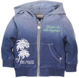 BOBOLI Mikina na zip s kapucí, vel. 92 cm - modrá, kluk