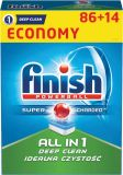 FINISH All in 1 Deep Clean (86+14 szt) – tabletki do zmywarki