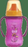 LOVI Hrníček nevylévací Folky 250 ml (12m+) - růžový