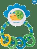 CANPOL BABIES 56/137 Hrkálka s hryzadlom Happy Garden - modrá