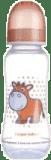 CANPOL Babies Láhev s potiskem 250 ml 0% BPA- růžová