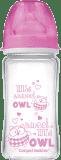 CANPOL BABIES Butelka EasyStart szklana 240 ml Pure Glass – różowa