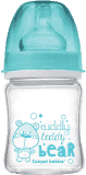 CANPOL BABIES Butelka EasyStart szklana 120 ml Pure Glass – niebieska