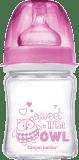 CANPOL BABIES Butelka EasyStart szklana 120 ml Pure Glass – różowa