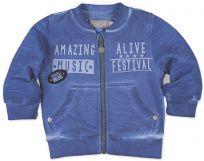 BOBOLI Mikina na zip, vel. 98 cm - modrá, kluk