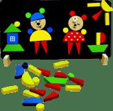 DETOA Magnetické puzzle Medvědi