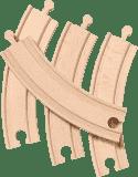 BRIO Dlouhé zatáčky, 170 mm, 4 ks