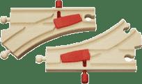 BRIO Mechaniczne zwrotnice 1 para