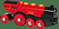 BRIO Potężna elektryczna czerwona lokomotywa ze światłami