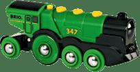 BRIO Duża lokomotywa elektryczna ze światłami – zielona