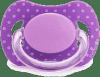 SUAVINEX Fyziologický cumlík s latexovou cumlíkom - fialová