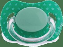 SUAVINEX Fyziologický cumlík s latexovou cumlíkom - zelená