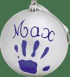 BABY ART Vianočný odtlačok na stromček Christmas Ball – silver