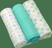 BABY ONO Pleny mušelínové Super soft, 3ks - pepermint