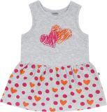 JACKY Šaty Summer Styles, vel. 74 - růžová srdíčka