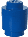 LEGO® Box do przechowywania okrągły 12x18cm – niebieski