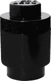 LEGO® Úložný box kulatý 123x183mm – černý