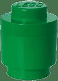 LEGO® Box do przechowywania okrągły 12x18cm – ciemnozielony