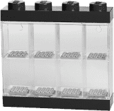 LEGO® Pojemnik kolekcjonerski - sorter na 8 minifigurek, czarny