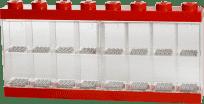 LEGO® Pojemnik kolekcjonerski – sorter na 16 minifigurek, czerwony