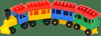 LORI Stavebnice LORI 8 vlak + 5 vagónků – plast