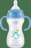 BAYBY BFB 6106 Kojenecká láhev s úchyty PP 240 ml - modrá (6m+)