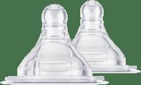 BAYBY BBA 6407 Silikonová savička 2 ks (3m+)