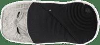 KIDDY Fusak s kožušinou pre športové kočíky - Onyx Black