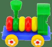 TEDDIES Lokomotíva / Vlak skladacie plast 20cm
