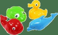 SMĚR Plavací sada zvířátka plast 4 ks