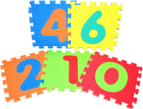 WIKY Penové puzzle 10 ks – číslice