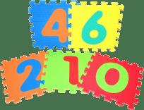 WIKY Puzzle piankowe Cyfry 10 szt.