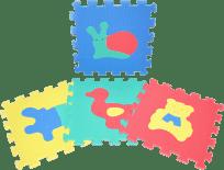 WIKY Penové puzzle Zvieratá 10 ks