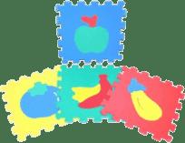 WIKY Puzzle piankowe Owoce 10 szt. – 2 rodzaje