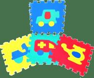 WIKY Penové puzzle Dopravné prostriedky 10 ks