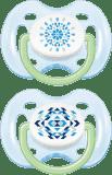 AVENT Smoczek Sensitive 2 szt. (silikon) 0-6m - niebieskie