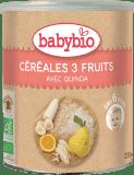 BABYBIO Bezmleczna kaszka ryż&quinoa z owocami 6m+ (220 g)