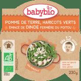 BABYBIO Menu brambory a fazolky s krůtími plátky 230 g
