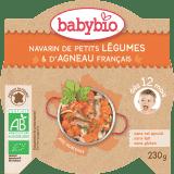 BABYBIO Menu dusená zelenina s jahňacím mäsom 230 g